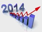 2014 Blue Bar Chart Shows Budget