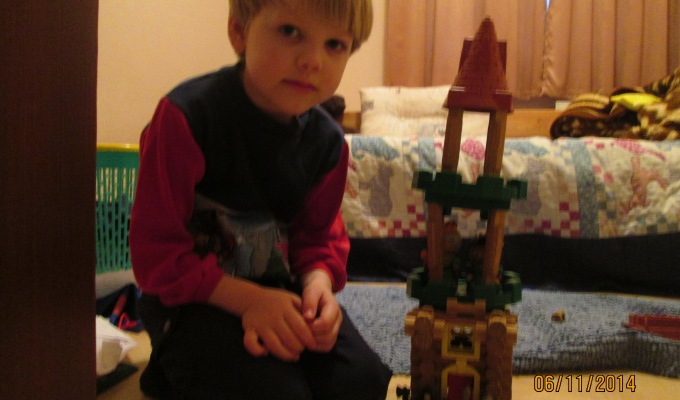 Daniel & his Lincoln Logs