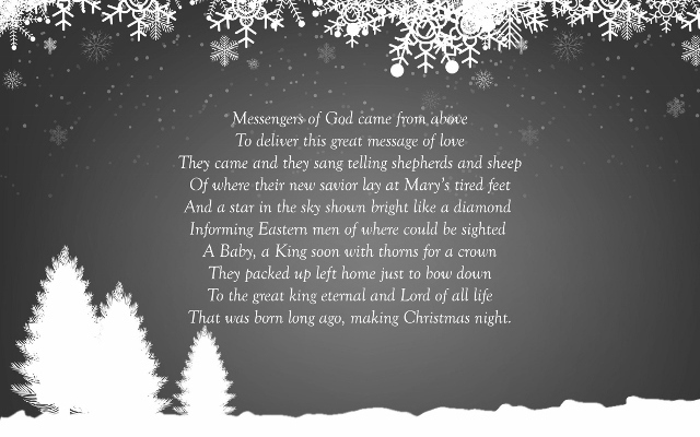 Christmas poem by Matthew Price