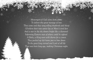 Christmas poem by Matthew Price 12/2014