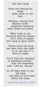 The-New-King-poem by Kirsten Price typewriter style