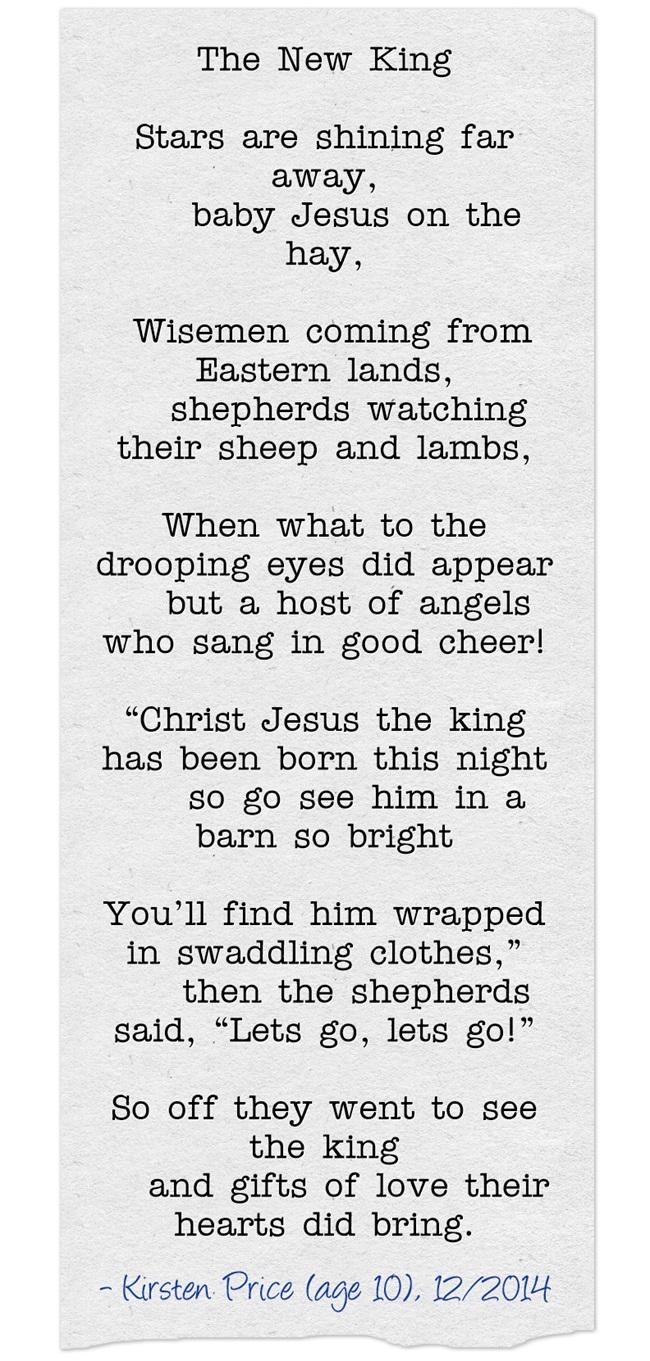 Kirsten's Christmas Poem