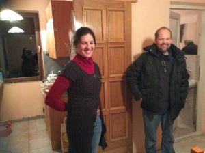 Biljana and Todd meeting for Bible translation prep